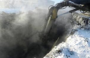 В Смоленске произошел четвертый прорыв трубы, тепло отсутствует на 18 улицах