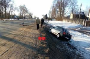 Вылетел в кювет. В Рославльском районе произошла серьезная авария