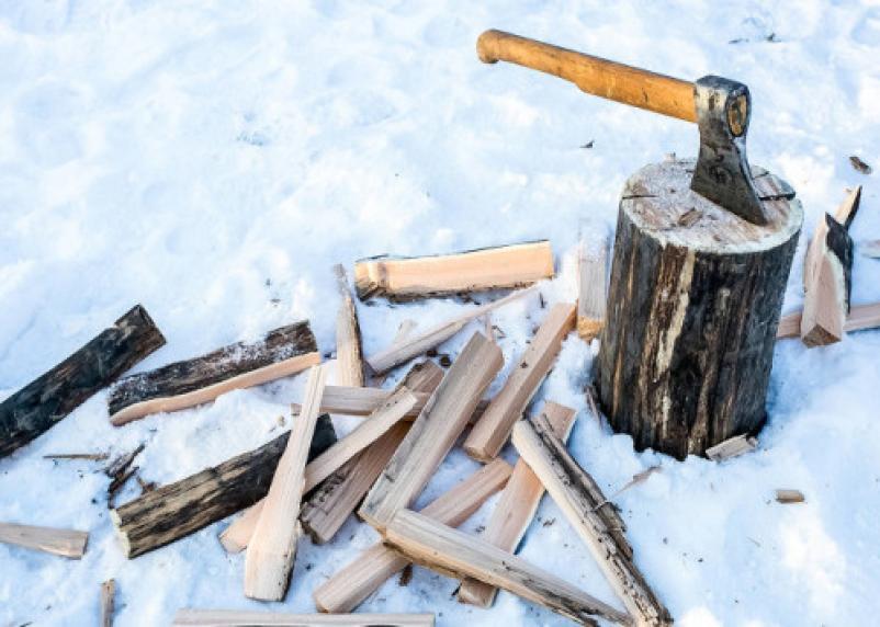 Горе-отца из Смоленской области за неуплату алиментов отправили колоть дрова