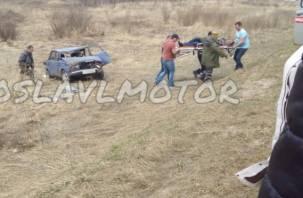 Смоленский водитель без прав вылетел в кювет и разбился