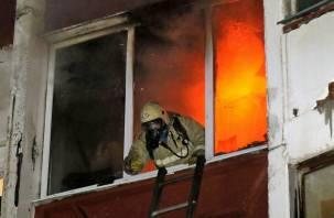 В Смоленске из горящего дома спасли мужчину с ожогами