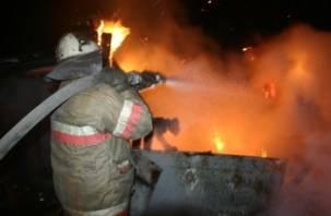 Ночью в Смоленске сгорела легковушка
