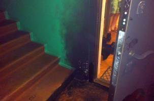 Ревнивый смолянин разбил мебель в квартире возлюбленной и поджег входную дверь