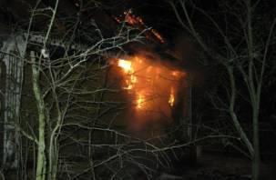 Ночной пожар в Вязьме унес жизнь человека