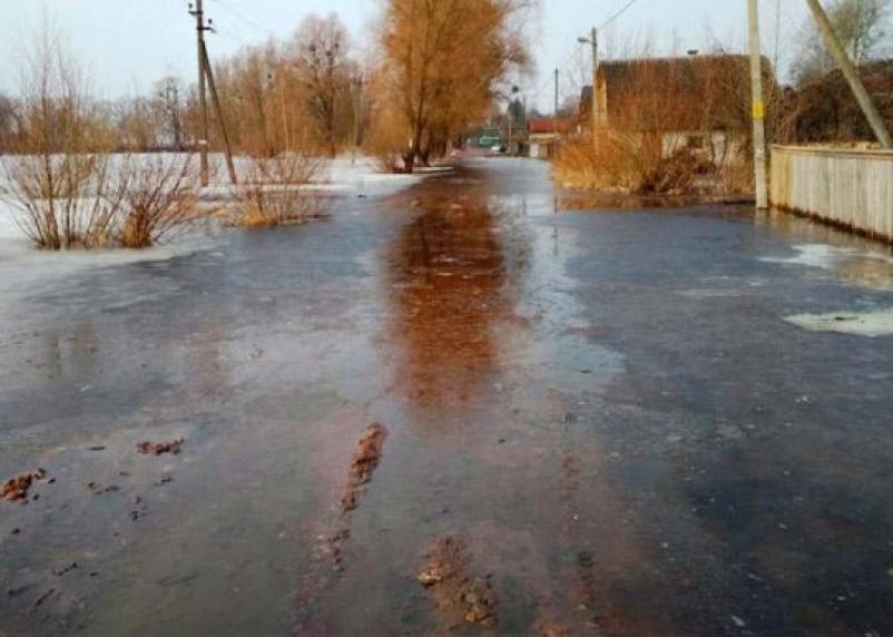 В Смоленской области затопило несколько дворов и дорог