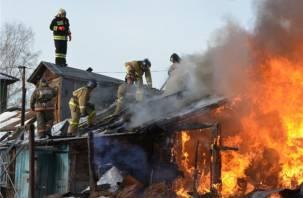 Двое смолян сгорели дома в Руднянском районе