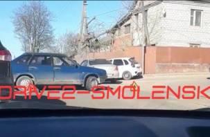 Авария на улице Свердлова в Смоленске спровоцировала огромную пробку