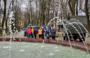 В Смоленске на Блонье провели пробный запуск фонтана