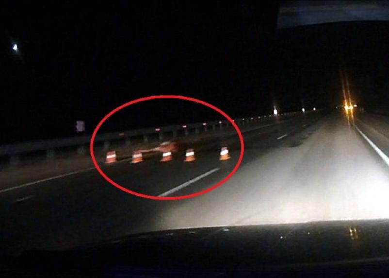 Видеорегистраторснял последствия жуткой аварии с лосем под Смоленском