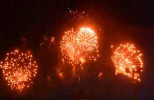 В Смоленске сняли на видео праздничный салют, посвященный Дню Победы