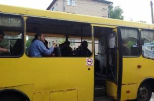 Без окон, но с пассажирами: в Сети появилось странное видео поездки на смоленском автобусе