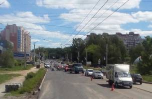 Смолянам придется сбавить скорость на Краснинском шоссе