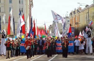Смоляне приняли участие в Первомайском шествии