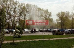 В Смоленской области иномарка загорелась прямо на стоянке