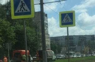 «Стоит колом». На Киселевке в Смоленске выросла огромная пробка