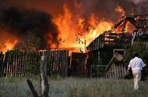 Пожилой смолянин рано утром сгорел в своем доме