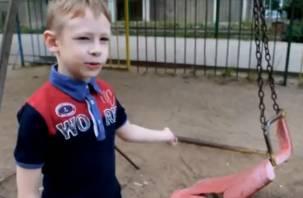 Смоленский ребенок попросил президента РФ сделать детскую площадку