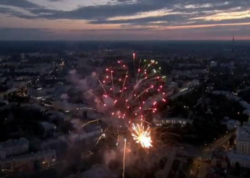 В Сети появилось зрелищное видео салюта над Днепром в Смоленске