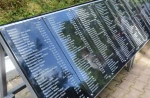 Мемориальные плиты памяти жертв Холокоста открыли в Смоленске