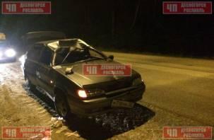 В Смоленской области лосенок погиб в аварии с легковушкой