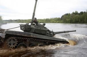 Смоленские военнослужащие ушли под воду
