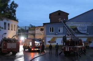 Ночью в Смоленске случился серьезный пожар