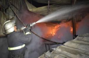 В Смоленской области произошел пожар на производстве