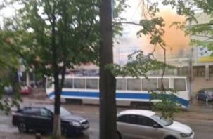 В Смоленске на ходу загорелся трамвай