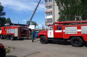 В Смоленске произошел пожар на балконе многоэтажки