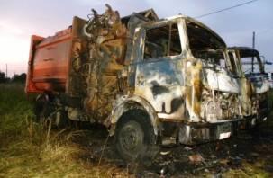 «Кабина и колеса сгорели». На Смоленщине во время движения вспыхнул самосвал