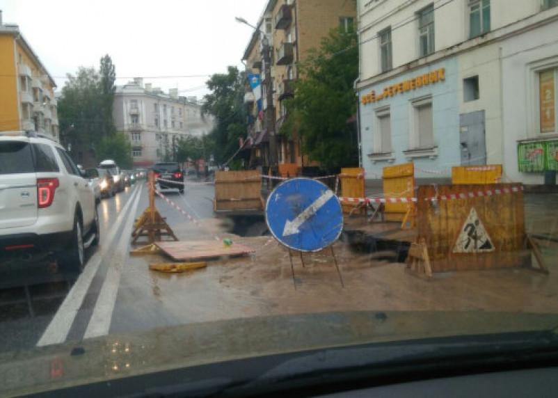 «Не пробка, а пробище»: в центре Смоленска роют асфальт
