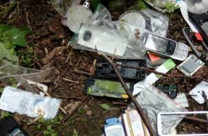 В Смоленской области обнаружена свалка мобильных телефонов