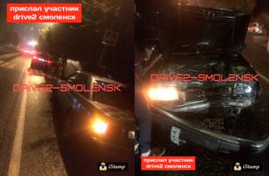 «BMW догнала Audi». В Смоленске произошла авария.