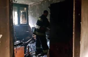 «Валил густой дым». В Смоленской области произошел пожар в квартире