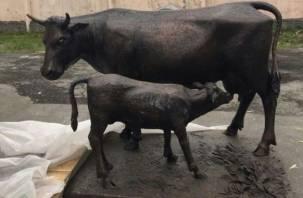 В Смоленске для Камчатки изготовили необычный памятник корове