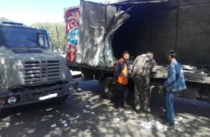 В Смоленской области при столкновении грузовиков пострадал человек