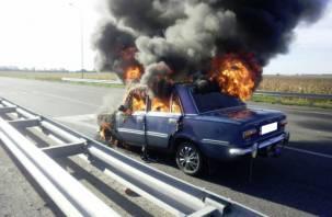 В Смоленской области на ходу загорелся легковой автомобиль