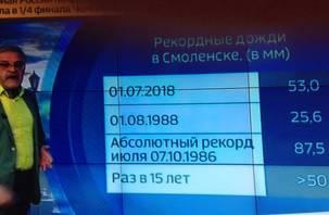 Смоленская область «отличилась» рекордным количеством осадков