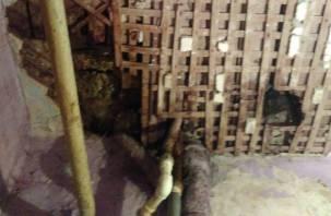 Жильцы смоленской коммуналки боятся, что им на голову упадет потолок