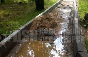 «Все насмарку» странную дорогу в Десногорске продолжают портить
