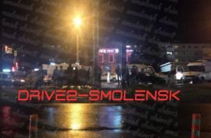 Последствия массовой аварии на 25 Сентября в Смоленске попали на видео