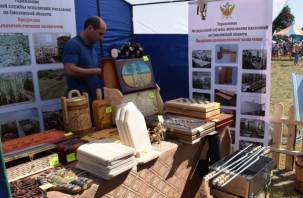 Возле брянского монастыря провели ярмарку товаров из смоленских колоний