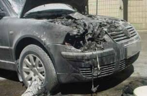 В Смоленской области иномарка вспыхнула на скорости