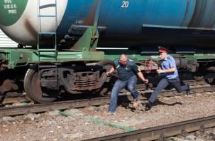 Смоляне растаскивают железную дорогу