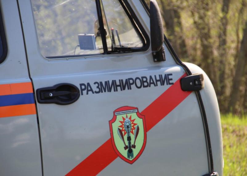 Сапёры изъяли артиллерийский снаряд на улице Колхозной