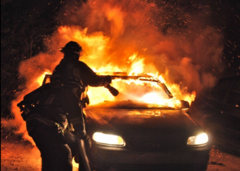 На трассе М1 сгорел «Форд»