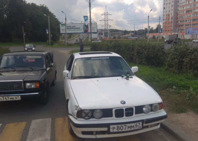 В Смоленске из-за ДТП образовалась пробка на проспекте Строителей