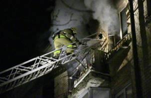 Подробности ночного пожара в Смоленске на Киселевке
