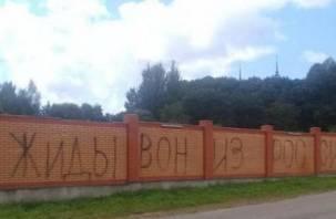 В Любавичах на стене еврейского кладбища появились антисемитские граффити и свастика