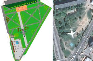 «Под крылом самолета»: что будет с главным сквером Заднепровского района Смоленска?